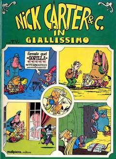 Copertina NICK CARTER VOLUMI ILLUSTRATI n.1 - NICK CARTER & C IN GIALLISSIMO, MALIPIERO EDITORE