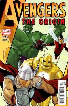 Copertina AVENGERS ORIGIN n.1 - The Necessary Evil, MARVEL COMICS USA