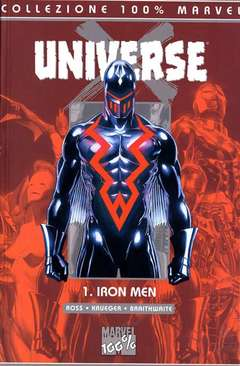 Copertina 100% MARVEL n.2 - UNIVERSE X IRON MAN, MARVEL ITALIA