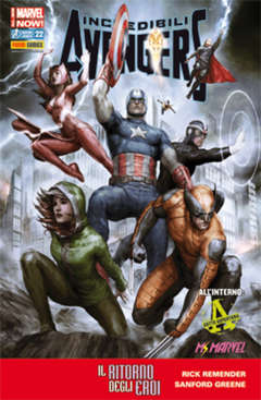 Copertina INCREDIBILI AVENGERS n.22 - INCREDIBILI AVENGERS, MARVEL ITALIA