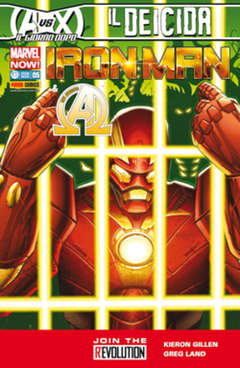 Copertina IRON MAN n.5 - IRON MAN & NEW AVENGERS, MARVEL ITALIA