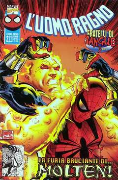 Copertina SPIDER-MAN n.211 - CONCLUSIONE FRATELLI DI SANGUE, MARVEL ITALIA