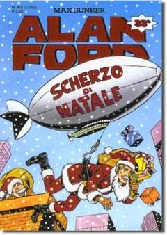 Copertina ALAN FORD n.402 - SCHERZO DI NATALE, MAX BUNKER PRESS