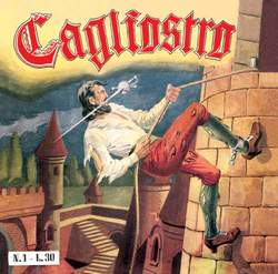 Copertina CAGLIOSTRO n. - CAGLIOSTRO ristampa dardo 1953 serie dal 1 al 12, MERCURY EDITORIALE