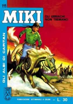 Copertina CAPITAN MIKI ALBI LIBRETTO COL n.12 - 111/120, MERCURY EDITORIALE