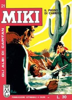 Copertina CAPITAN MIKI ALBI LIBRETTO COL n.3 - 21/30, MERCURY EDITORIALE