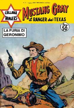 Copertina COLLANA RANGERS n.1 - MUSTANG GRAY / JIM BRIDGER, MERCURY EDITORIALE