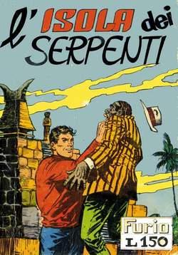 Copertina FURIO raccolta n.2 - L'ISOLA DEI SERPENTI, MERCURY EDITORIALE