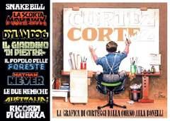 Copertina LA GRAFICA DI CORTEGGI n. - Dalla Corno alla Bonelli, MERCURY EDITORIALE