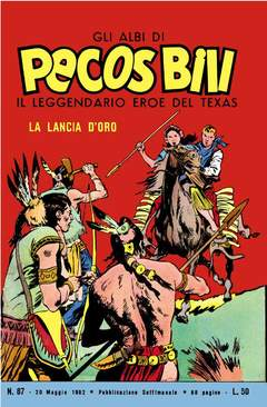 Copertina PECOS BILL ALBI LIBRETTO COLOR n.10 - 87/94 - GLI ALBI DI PECOS BILL LIBRETTO COLORI, MERCURY EDITORIALE