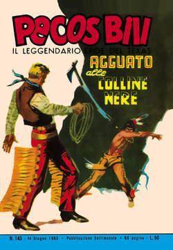 Copertina PECOS BILL ALBI LIBRETTO COLOR n.17 - 143/150, MERCURY EDITORIALE