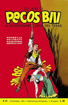 Copertina PECOS BILL ALBI LIBRETTO COLOR n.6 - 51/60, MERCURY EDITORIALE