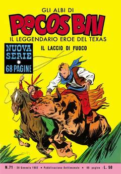 Copertina PECOS BILL ALBI LIBRETTO COLOR n.8 - 71/78, MERCURY EDITORIALE