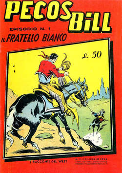 Copertina PECOS BILL ALPE ANASTATICI n.1 - PECOS BILL ALPE ANASTATIC    1, MERCURY EDITORIALE