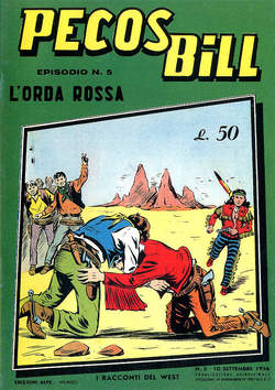 Copertina PECOS BILL ALPE ANASTATICI n.5 - PECOS BILL ALPE ANASTATIC    5, MERCURY EDITORIALE
