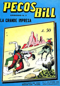 Copertina PECOS BILL ALPE ANASTATICI n.7 - PECOS BILL ALPE ANASTATIC    7, MERCURY EDITORIALE
