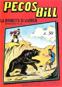 Copertina PECOS BILL ALPE ANASTATICI n.8 - PECOS BILL ALPE ANASTATIC    8, MERCURY EDITORIALE