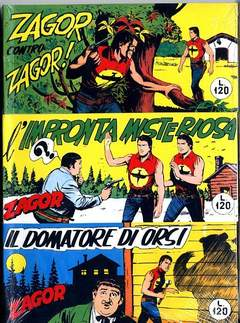 Copertina ZAGOR RACCOLTINE n.4 - LOTTO 4 (10/12), MERCURY EDITORIALE