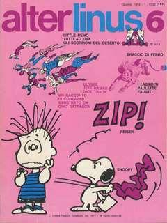 Copertina ALTER LINUS n.6 - GIUGNO 1974, MILANO LIBRI EDIZIONI