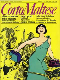 Copertina CORTO MALTESE RIVISTA n.10 - ANNO 1984 N.7, MILANO LIBRI EDIZIONI