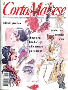 Copertina CORTO MALTESE RIVISTA n.118 - ANNO 1993 N.7, MILANO LIBRI EDIZIONI