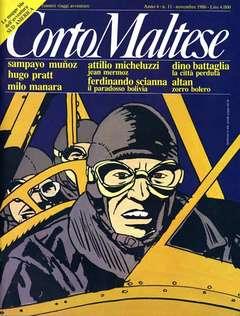 Copertina CORTO MALTESE RIVISTA n.38 - ANNO 1986 N.11, MILANO LIBRI EDIZIONI
