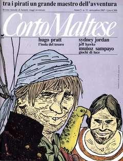 Copertina CORTO MALTESE RIVISTA n.50 - ANNO 1987 N.11, MILANO LIBRI EDIZIONI
