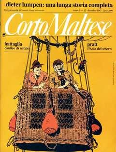 Copertina CORTO MALTESE RIVISTA n.51 - ANNO 1987 N.12, MILANO LIBRI EDIZIONI