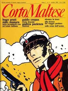 Copertina CORTO MALTESE RIVISTA n.1 - ANNO 1983 N.1, MILANO LIBRI EDIZIONI