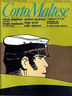 Copertina CORTO MALTESE RIVISTA n.2 - ANNO 1983 N.2, MILANO LIBRI EDIZIONI