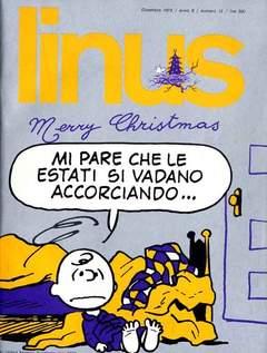 Copertina LINUS n.105 - 1973 ANNO 9 - Nø12, MILANO LIBRI EDIZIONI