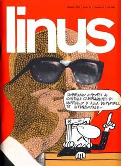 Copertina LINUS n.123 - 1975 ANNO 11 - Nø 6, MILANO LIBRI EDIZIONI