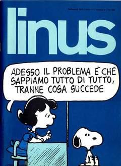 Copertina LINUS n.126 - 1975 ANNO 11 - Nø 9, MILANO LIBRI EDIZIONI