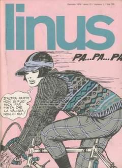 Copertina LINUS n.130 - 1976 ANNO 12 - Nø 1, MILANO LIBRI EDIZIONI