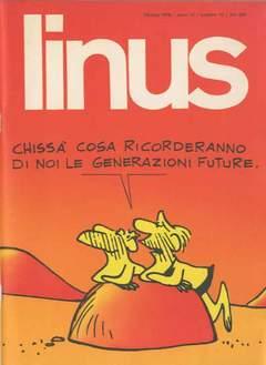 Copertina LINUS n.139 - 1976 ANNO 12 - Nø10, MILANO LIBRI EDIZIONI