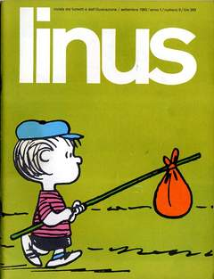 Copertina LINUS n.6 - 1965 ANNO 1 - nø 6, MILANO LIBRI EDIZIONI