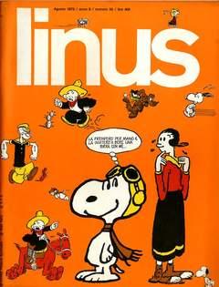 Copertina LINUS n.65 - 1970 ANNO 6 - Nø 8, MILANO LIBRI EDIZIONI