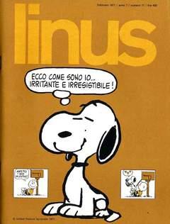 Copertina LINUS n.71 - 1971 ANNO 7 - Nø 2, MILANO LIBRI EDIZIONI