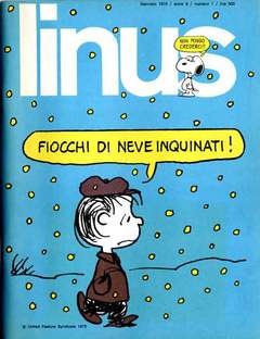 Copertina LINUS n.94 - 1973 ANNO 9 - Nø 1, MILANO LIBRI EDIZIONI
