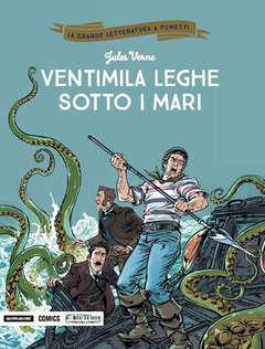 Copertina GRANDE LETTERATURA A FUMETTI n.17 - VENTIMILA LEGHE SOTTO I MARI, MONDADORI COMICS
