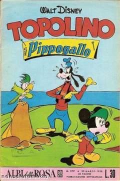 Copertina ALBI DELLA ROSA n.177 - Topolino e il Pippogallo, MONDADORI EDITORE