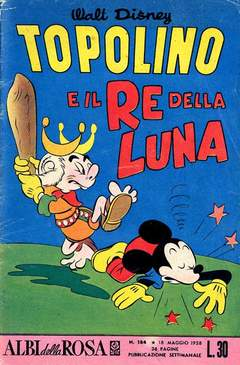 Copertina ALBI DELLA ROSA n.184 - Topolino e il re della Luna, MONDADORI EDITORE