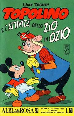 Copertina ALBI DELLA ROSA n.594 - Topolino e l'attività dello zio in ozio, MONDADORI EDITORE