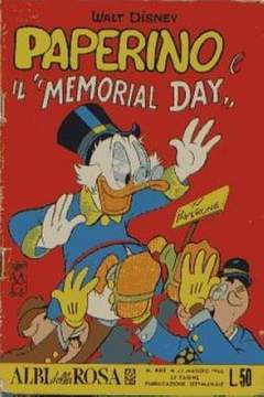 """Copertina ALBI DELLA ROSA n.602 - Paperino e il """"Memorial Day"""", MONDADORI EDITORE"""
