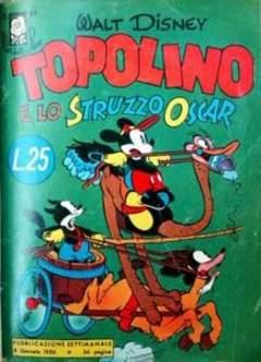Copertina ALBI DELLA ROSA n.61 - Topolino e lo struzzo Oscar, MONDADORI EDITORE