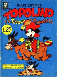 Copertina ALBI DELLA ROSA n.62 - Topolino e il Tesoro di Clarabella, MONDADORI EDITORE
