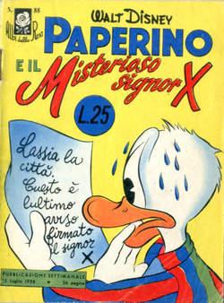 Copertina ALBI DELLA ROSA n.88 - Paperino e il Misterioso signor X, MONDADORI EDITORE