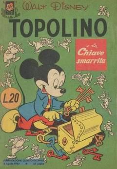 Copertina ALBI DELLA ROSA n.7 - Topolino e la chiave smarrita, MONDADORI EDITORE