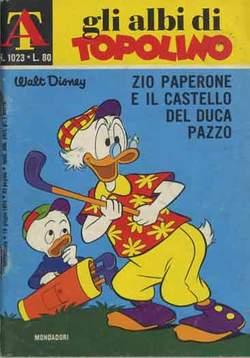 Copertina ALBI DI TOPOLINO n.1023 - Zio Paperone e il castello del duca pazzo, MONDADORI EDITORE
