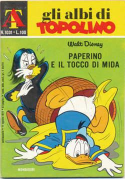 Copertina ALBI DI TOPOLINO n.1031 - Paperino e il tocco di Mida, MONDADORI EDITORE